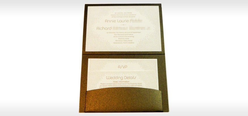 Charming Letterpress Invitations Greensboro High End Wedding Invitations ...